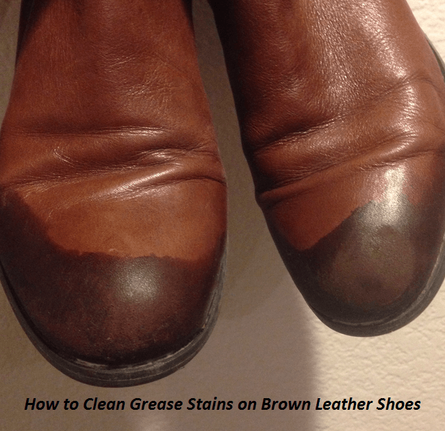Grease Stain Leather Shoes