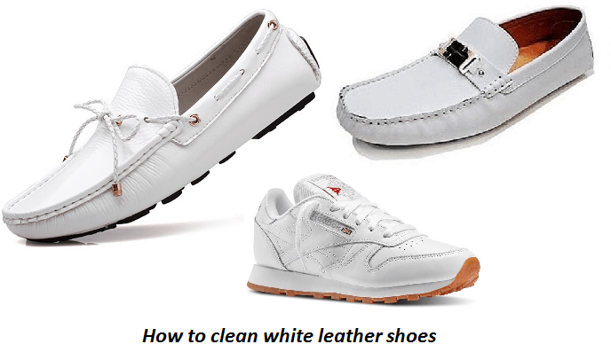 White Leather Shoes Using Toothpaste